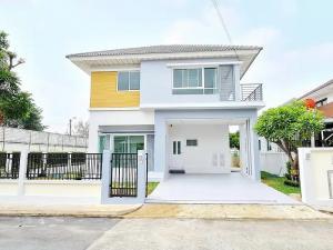 For SaleHouseLadkrabang, Suwannaphum Airport : Corner house for sale M. Perfect Place, Sukhumvit 77 62 sq m. North Robinson Ladkrabang Suvarnabhumi Airport