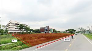 ขายที่ดินพัฒนาการ ศรีนครินทร์ : ขายที่ดินแปลงสวยติดถนนกรุงเทพกรีฑาหน้ากว้างถึง 150 เมตร
