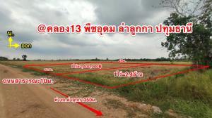 ขายที่ดินรังสิต ธรรมศาสตร์ ปทุม : ขาย ที่ดินเปล่า 1-2 ไร่ ลงทุนดีมีอนาคต เก็งกำไรงาม ต.พืชอุดม คลอง13 ลำลูกกา