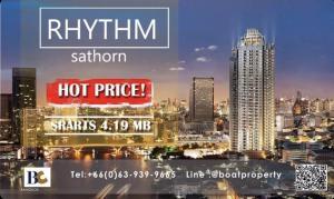 For SaleCondoSathorn, Narathiwat : ✨ Very good price ✨Rhythm sathorn