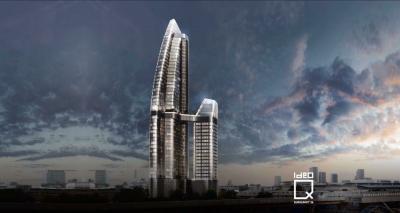 ขายดาวน์ ..คอนโดราคา VIP Ideo Q Sukhumvit 36 ชั้นสูง 2 ห้องนอน 63 ตรม กระจกโค้ง วิวแม่น้ำบางกระเจ้า