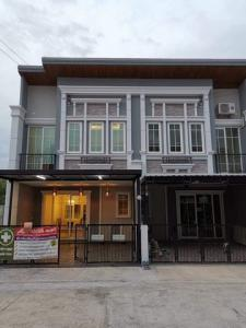 For RentTownhouseBangna, Lasalle, Bearing : RTJ715 For Rent English-style townhomes behind the corner of Golden Town 3 Bangna-Suanluang