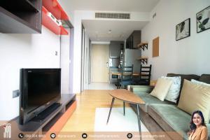 For RentCondoSukhumvit, Asoke, Thonglor : JY-R00065-For Rent Belle Grand Rama 9 1 bedroom 1 bathroom 37.22 sq.m. on 24th floor. Nice view.