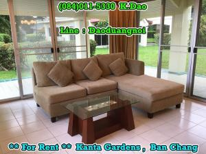 For RentHouseRayong : Kanta Gardens, Ban Chang For Rent Rental Fee 40,000 Baht