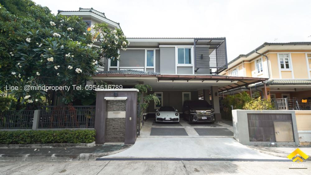 For SaleHouseOnnut, Udomsuk : Urgent sale, 2-storey luxury single house, Golden Nakara Village, On Nut 65, near the expressway up-down point, Rama 9, Prawet area.