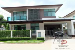For RentHouseLadkrabang, Suwannaphum Airport : Single House for rent Setthasiri Onnut-Srinakarin  4 bedrooms ( PST-EVE242 )