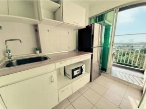 For RentCondoBangna, Lasalle, Bearing : Room for Rent 53 Sqm. 2 bedrooms condo near Bangkok Pattana School, Good View
