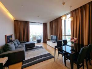 For RentCondoSukhumvit, Asoke, Thonglor : Aequa Sukhumvit 49 for rent near BTS Thonglor 2 bedrooms 2 bathrooms 92 sqm. rental 75,000 baht/month