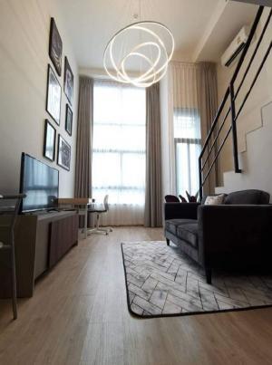 เช่าคอนโดพระราม 9 เพชรบุรีตัดใหม่ : คอนโดให้เช่า Ideo New Rama 9💥แบบ duplex แต่งสวย ราคาดี💥ห้องโปร่ง Fully furnished เครื่องใช้ไฟฟ้าครบ ลากกระเป๋าใบเดียวเข้าอยู่ได้เลยขนาด 31 ตร.ม ชั้น 22💰ราคาเช่า 17,000 บาท / เดือน