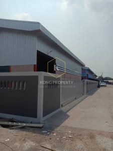 For RentWarehouseBangbuathong, Sainoi : Warehouse for rent, size 240 sq m, next to the main road, Lat Lum Kaeo District, Pathum Thani
