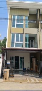 For RentTownhouseSamrong, Samut Prakan : Townhome for rent, Nam Daeng 3 floors, Bless Town Village, Bless Town, Srinakarin - Namdaeng