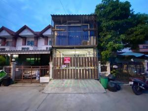 For SaleTownhouseSamrong, Samut Prakan : Urgent sale, 2 storey townhouse. # Free air conditioning + some furniture, Praksa, Soi Praksa 14, Samut Prakan