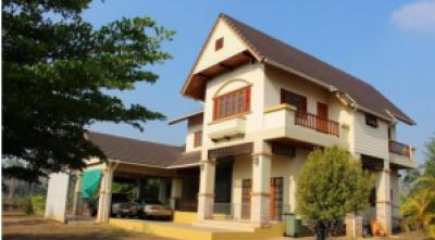For SaleHouseKanchanaburi : House for sale with land 9 rai, 3 bedrooms, 3 bathrooms, 2 car parks, on 323 Thong Pha Phum Road, Sangkhlaburi