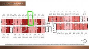 Sale DownCondoRamkhamhaeng,Min Buri, Romklao : 🔥 Sale down payment 🔥 The Origin Ram 209 room 1 Br plus 30 sqm.