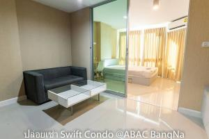 For RentCondoBangna, Lasalle, Bearing : Condo for rent, swift, ABAC Bangna, wallpapered room Never had tenants