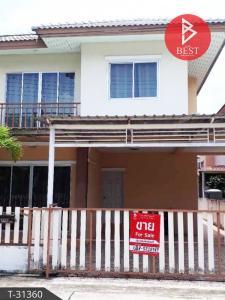 For SaleHouseChachoengsao : House for sale. Baan Pho Ville 2, Klong Prawet, Chachoengsao