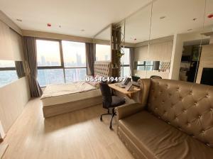 For SaleCondoSiam Paragon ,Chulalongkorn,Samyan : Hot money, quick sale, IDEO Q CHULA SAMYAN, high floor, studio room, 24 sq m, interested contact 065-464-9497