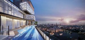For RentCondoWongwianyai, Charoennakor : Condo for rent, Niche Mono Charoen Nakorn (Niche Mono Charoen Nakhon), 7th floor, Chao Phraya River view.