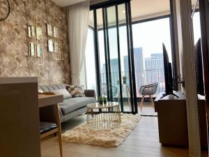 For RentCondoOnnut, Udomsuk : Cheapest QUINN Sukhumvit 101, High Rise 31-storey condo, modern style.