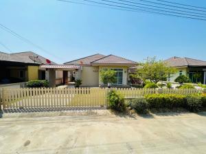 For SaleHouseRayong : E874 Single storey house for sale, Saruta Home Village, Sukhumvit, Rayong, 80 sq m, next to Sukhumvit Road