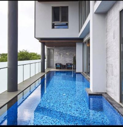"""ขายบ้านสะพานควาย จตุจักร : ด่วน ขายบ้าน กึ่ง โฮมออฟฟิต พร้อมสระว่ายน้ำ"""" บ้าน 7 ชั้น ชั้นที่ 7 เป็นดาดฟ้า สามารถต่อเติมได้  เนื้อที่ 99 ตรว  พื้นที่ใช้สอย 1,245 ตรม"""