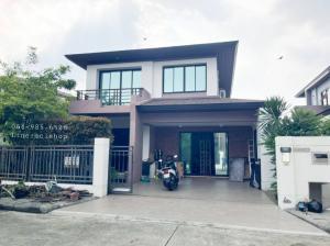 For RentHouseRamkhamhaeng,Min Buri, Romklao : House for rent 💢 Aqua Divina Ramkhamhaeng 94 village (Aqua Divina Ramkhamhaeng 94), great location, close to the Orange Line train, convenient transportation, rental price 50,000 baht / month