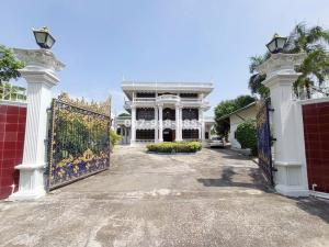 For SaleHouseNakhon Pathom, Phutthamonthon, Salaya : Sell a large 3-storey house, Louis style, 327 square meters, near Sanam Chan Palace, Nakhon Pathom