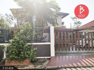 For SaleHouseSamrong, Samut Prakan : House for sale on the corner. Happy Place Village 1 King Kaew - Bang Phli, Samut Prakan