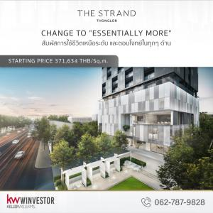 For SaleCondoSukhumvit, Asoke, Thonglor : The Strand Thonglor project, starting price only 17.9 million baht.