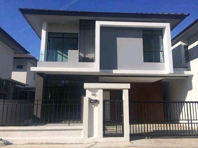 For RentHouseRamkhamhaeng Nida, Seri Thai : Property Code P4 2 storey house for rent, Aura project, Ramkhamhaeng Road, Soi 94, near The Paseo Department Store