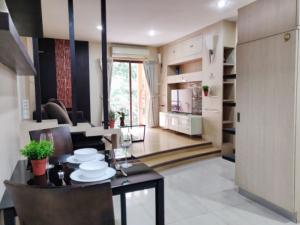 For SaleCondoRatchadapisek, Huaikwang, Suttisan : Built-in in the whole room, the cheapest in the 1 bedroom project, almost 60 sq m.