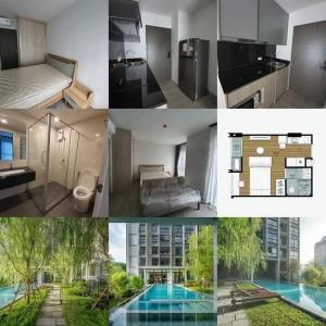 For RentCondoBangna, Lasalle, Bearing : For rent, DOLCE LASALLE, Studio room, 26 sqm., 4th floor, pool view.