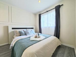 For SaleCondoBangna, Lasalle, Bearing : LL-LS572 Condo for sale, Lumpini Mega City Bangna, beautiful room, good price, no block view, picture matches the cover 100%