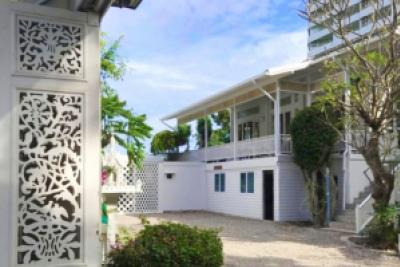 For SaleHouseHua Hin, Prachuap Khiri Khan, Pran Buri : House for sale by the sea Ready to move in, Soi Hua Hin 5, area 118 sq m, colonial style, sea view with 180 degrees