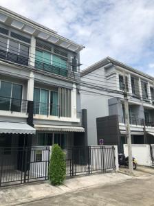 For RentTownhouseRamkhamhaeng, Hua Mak : House for rent in Klang Muang Rama 9-Ramkhamhaeng, Thepleela Temple, behind the corner.