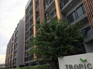 "For RentCondoSamrong, Samut Prakan : 🔥 Hot price for rent near Erawan BTS ""Tropicana Erawan"", spacious room with washing machine, price 6,500 baht, ready to sleep 🔥"