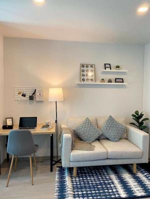 For RentCondoRatchadapisek, Huaikwang, Suttisan : Condo for rent, Aspire asoke ratchada, size 30 sqm. 1 bedroom, beautiful decoration, ready to move in.
