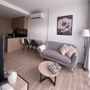 For RentCondoOnnut, Udomsuk : New condo for rent, Kawa Haus Sukhumvit 77, size 34.37 sqm., Complete electrical appliances, beautiful decorated room, ready to move in.