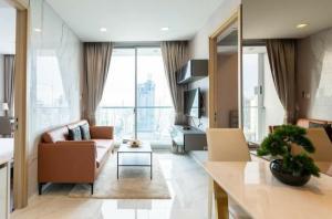 For RentCondoNana, North Nana,Sukhumvit13, Soi Nana : Condo for rent, Hyde Sukhumvit 11, 30th floor, size 62 sqm., 2 bedrooms, 2 bathrooms, near BTS Nana.