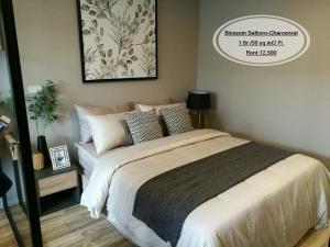 For RentCondoSathorn, Narathiwat : Rent - Blossom Sathorn-Charoen Rat / 1 bed / 30 sqm. / 2nd floor / near BTS Surasak, rent 12,500