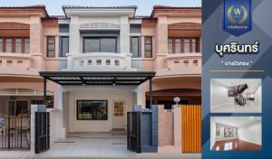 For SaleTownhouseBangbuathong, Sainoi : Newly decorated townhome for sale, Busarin Bang Bua Thong, 135 sq m. 18 sq m, near the train