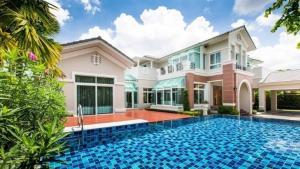 For SaleHousePinklao, Charansanitwong : (Sale) ** Luxury mansion on Ratchaphruek Road, Prukpirom Ratchaphruek-Rattanathibet project, private swimming pool, corner to the south **
