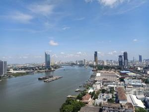 For RentCondoRama3 (Riverside),Satupadit : For rent, Lumpini Park Riverside Rama 3, river view, very beautiful view, size 33 sq m., 29th floor, building B, furniture and appliances, complete, next to BRT station, flower temple station.