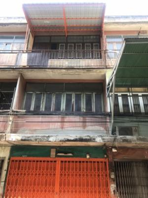 For SaleShophouseBang Sue, Wong Sawang : 3-storey commercial building for sale, size 11.4 square wa., Usable area 120 square meters. Soi Pracharat Sai 1, Soi 14 from the mouth of the alley into about 100 meters.