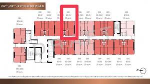 ขายดาวน์คอนโดมีนบุรี-ร่มเกล้า : ⭐️ ขายดาวน์ ⭐️ ด่วน!! The Origin Ram209 ห้อง 1 Br. 25.5 sq.m. ชั้นสูงง วิวสวยมาก