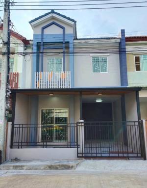 For SaleTownhouseBangbuathong, Sainoi : Leo Village 5, enter Soi Wat Phra Ngoen, only 800 meters