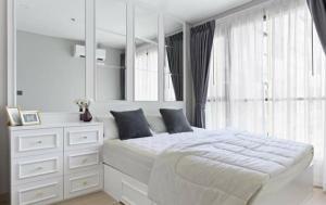For RentCondoRama9, RCA, Petchaburi : 🎉 Rent a beautiful decorated room White marble tone, Condo Lumpini Suite Phetchaburi-Makkasan, 1 bedroom, complete electrical appliances.