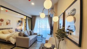 For RentCondoOnnut, Udomsuk : | Rent | Negotiable IKON77, a new condo, next to a community mall, new room, beautiful room, exactly on the cover, can carry your bag and move in.