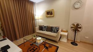 For RentCondoNawamin, Ramindra : For rent Chrisma Ramintra 1 bedroom, city view, 2 TVs, refrigerator, microwave, desk set + dining Fully electric furniture
