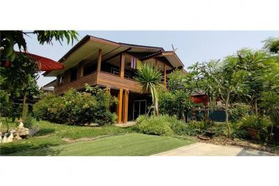 For SaleHouseChiang Rai : บ้านเดี่ยว 2 ชั้น ครึ่งตึกครึ่งไม้ บ้านฝั่งหมิ่น ซอย 5 ต.ริมกก อ.เมืองเชียงราย